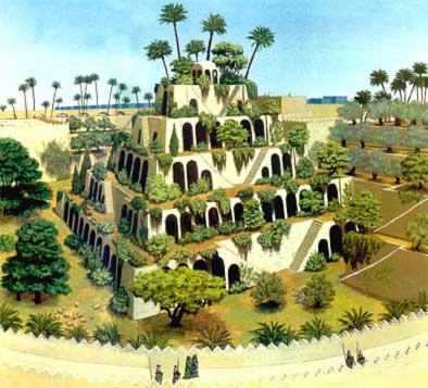 Les jardins suspendus de babylone or peut être ces jardins